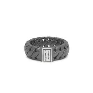 Buddha to Buddha Ring Ben Small Black Rhodium Zilver