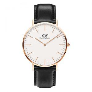 Daniel Wellington heren horloge Classic Sheffield Roségoud 40mm
