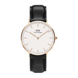 Daniel Wellington heren horloge Classic Sheffield Roségoud 36mm