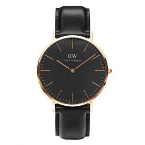Daniel Wellington heren horloge Classic Black Sheffield Roségoud 40mm