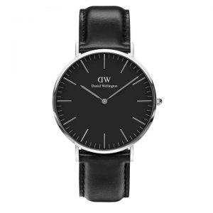 Daniel Wellington heren horloge Classic Black Sheffield Zilver 40mm