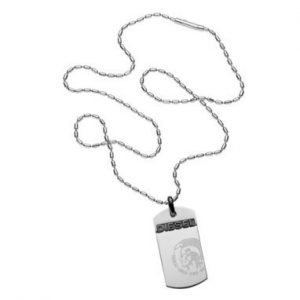 Diesel Single Dogtag Heren Ketting DX0007040
