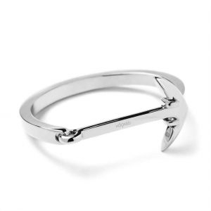 Hooked Armband Silver Anchor Cuff