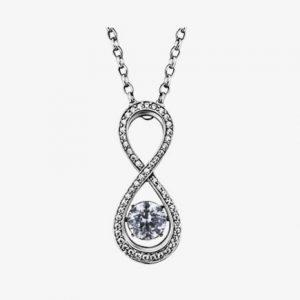 Julie Julsen Dancing Stone infinity hanger zilver