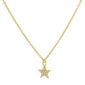 Karma Ketting Zirconia Star Goldplated