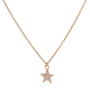 Karma Ketting Zirconia Star Roseplated