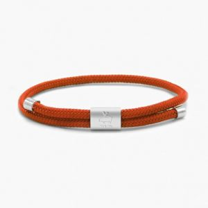 Pig & Hen Armband Little Lewis Coral Red | Silver