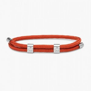 Pig & Hen Armband Little Lewis Double Coral Red | Silver