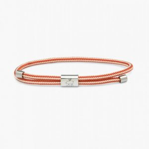 Pig & Hen Armband Little Lewis Ivory - Coral Red | Silver