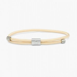 Pig & Hen Armband Little Lewis Navy - Ivory | Silver