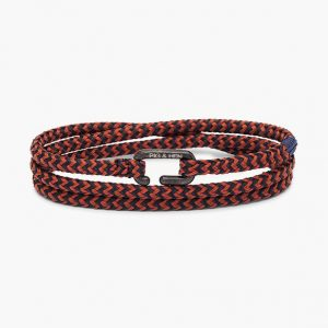 Pig & Hen Armband Savage Sam Coral Red - Navy | Black