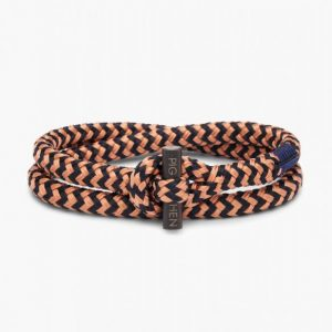 Pig & Hen Armband Tiny Ted Old Pink - Navy | Black