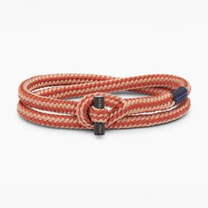 Pig & Hen Armband Tiny Tiny Old Pink - Coral Red | Black