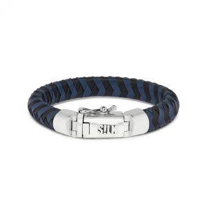 Silk Jewellery 326BBU Armband Zwart-Blauw