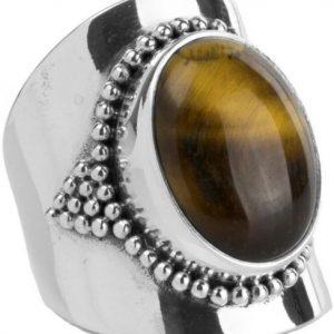 Ymala Zilveren Ring Tijgeroog YM-0002