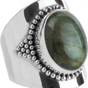 Ymala Zilveren Ring Labradoriet YM-0005