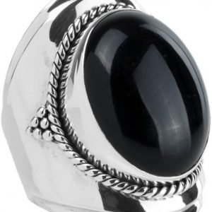 Ymala Zilveren Ring Onyx YM-0006