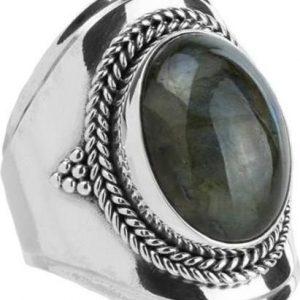 Ymala Zilveren Ring Labradoriet YM-0008