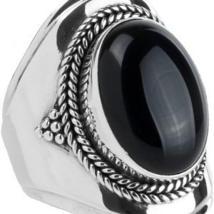 Ymala Zilveren Ring Onyx YM-0009